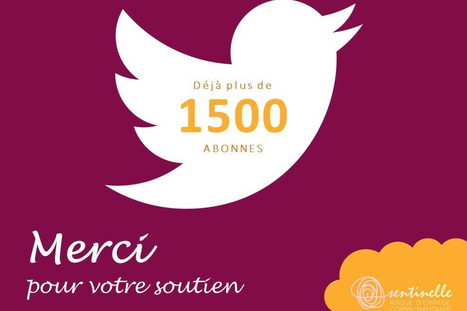 1500 abonnés sur Twitter